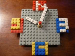 lego clock completed