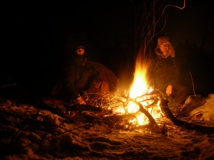 campfire at sand dunes