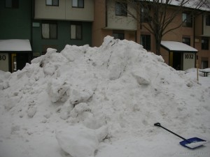 Huge snow bank