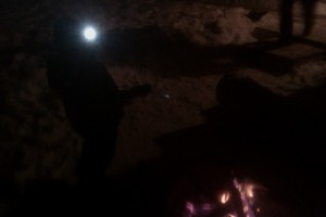 Hot dogs over the campfire