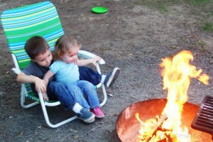 kids at the campfire