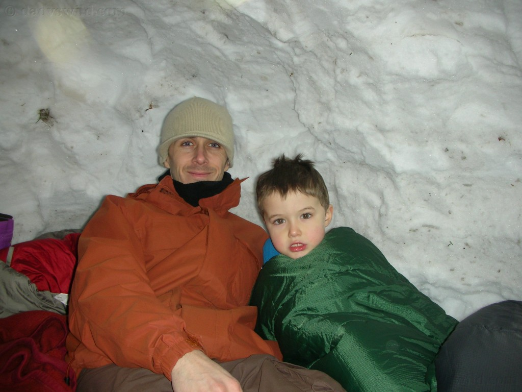 sleeping in the snowcave