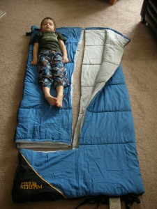 homemade kids sleeping bag