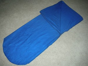 homemade sleeping bag liner