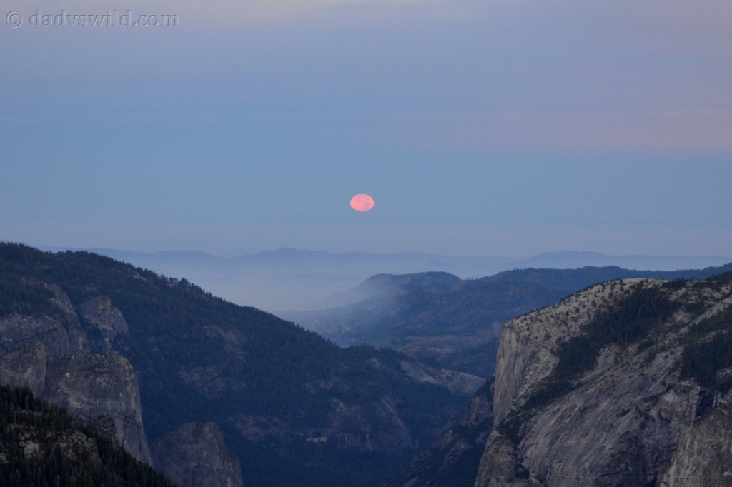 Moonset from half dome