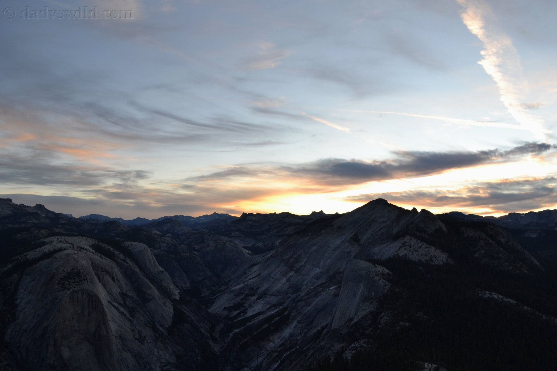 Half Dome By Night With A Full Moon Alone Dad Vs Wild