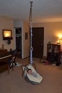 Homemade baby swing