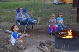 Campfire at Newton Creek campground