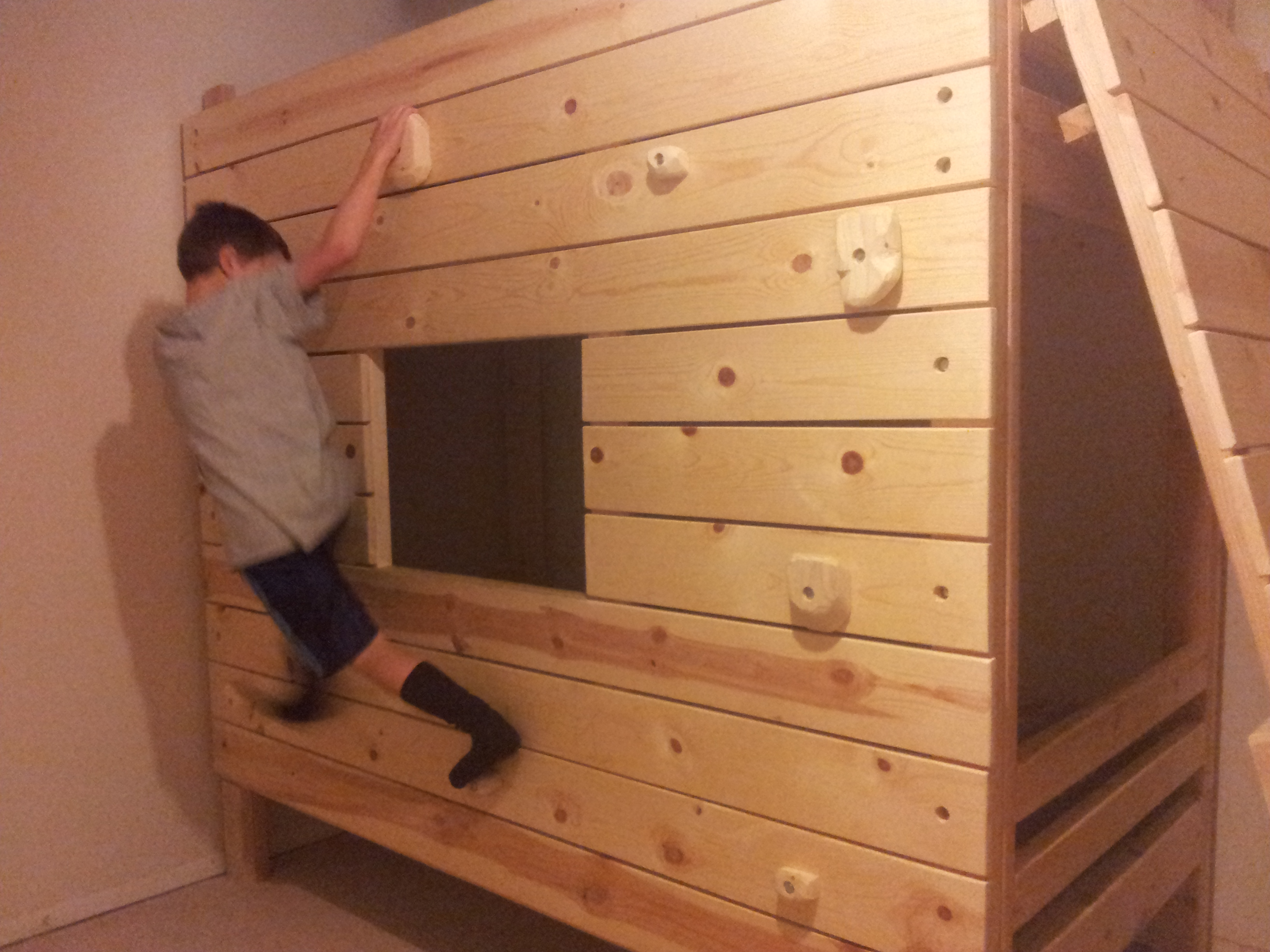Diy Modular Rock Climbing Bunk Bed Fort Dad Vs Wild