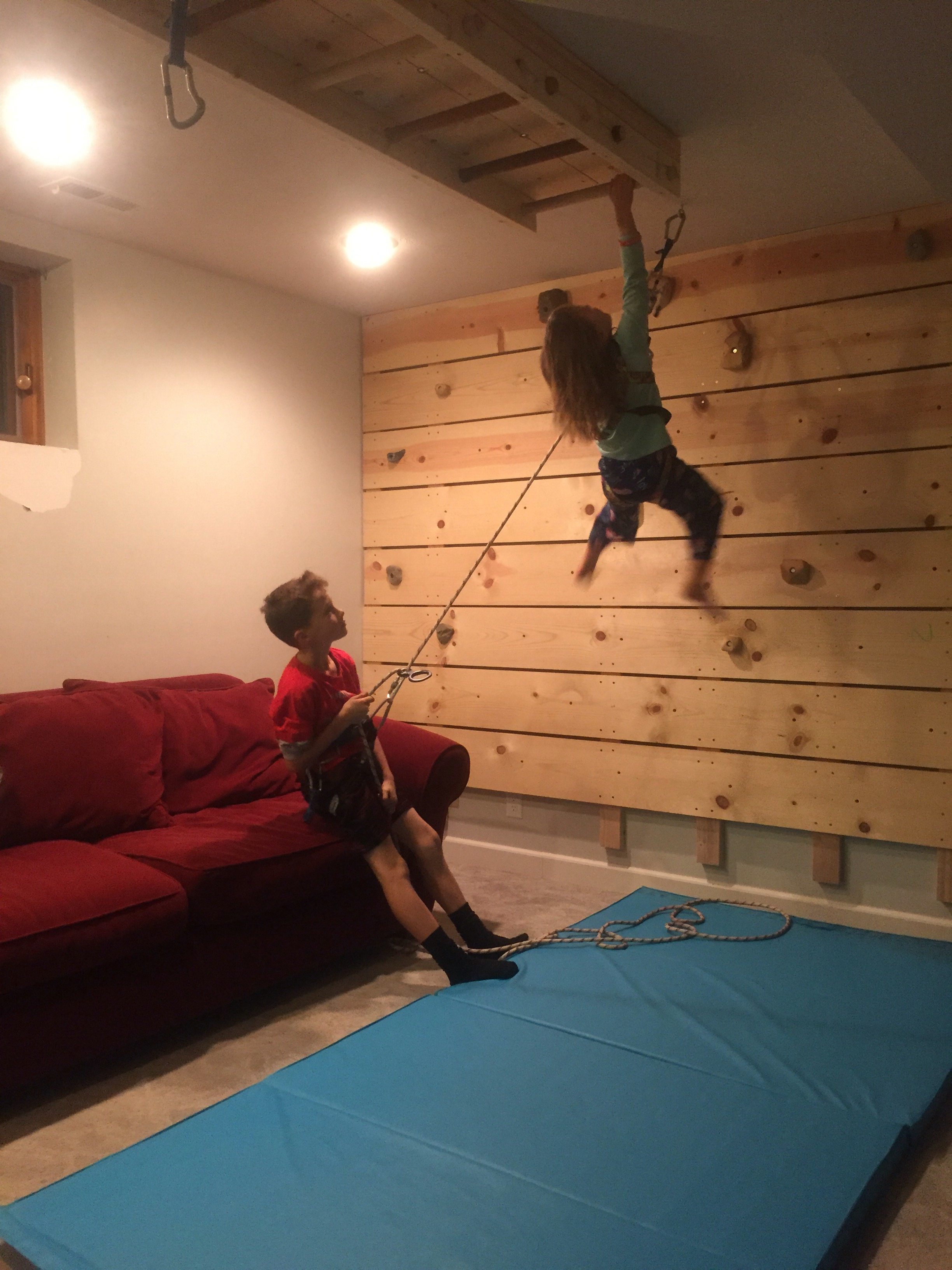 DIY Basement Rock Climbing Wall: On Belay! – Dad vs Wild