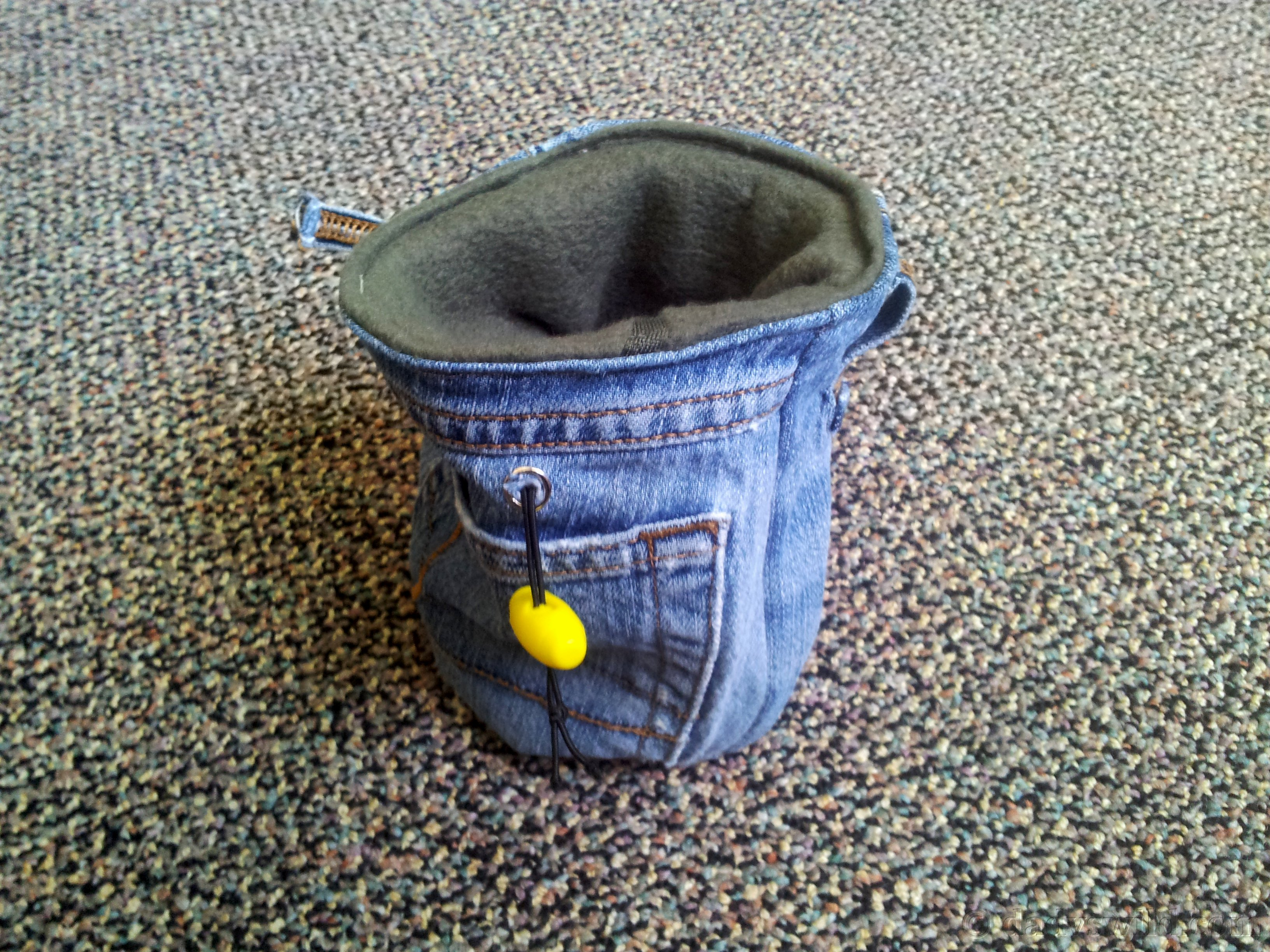 Diy Jean And Fleece Chalk Bag For Rock Climbing